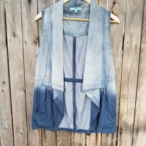 Karlie  chambray vest with a ombre finish size med